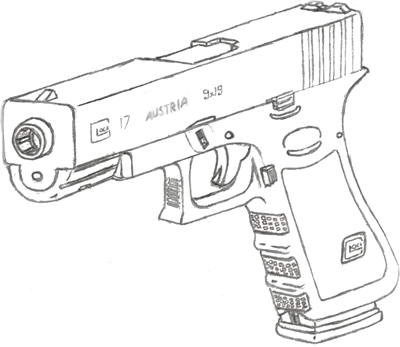 Drawn pistol glock 17 Fewes 17 Drawing Drawing 17