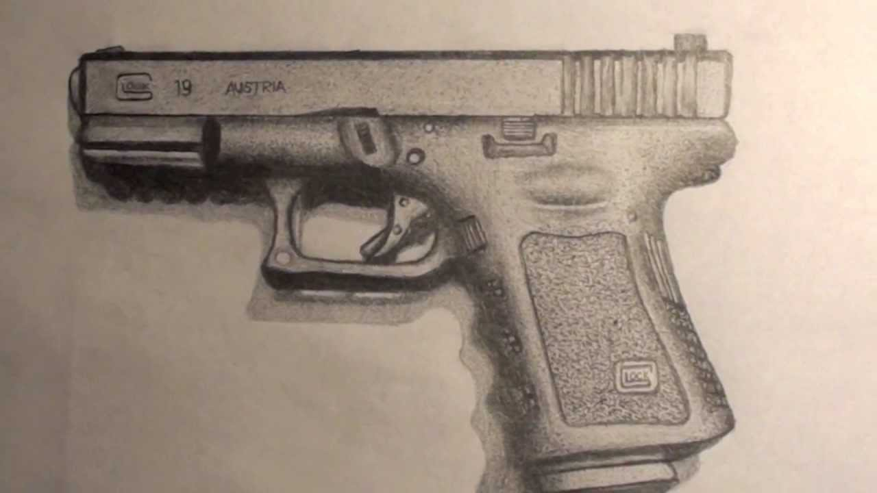 Drawn pistol glock 17 Product) 19 Drawing Drawing 19