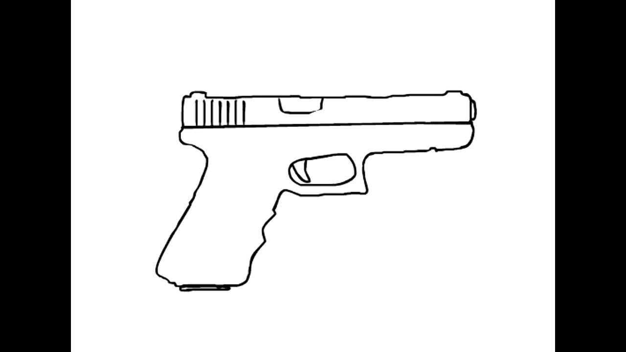 Drawn pistol glock 17 Glock reload Drawn // Animation