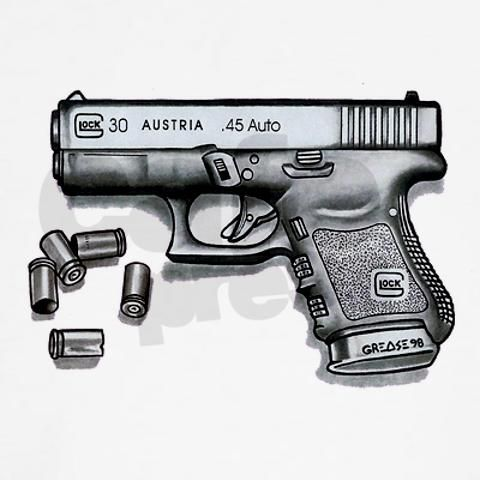 Drawn pistol glock 17 Pinterest Drawing Glock DrawingsGlockFirearms about