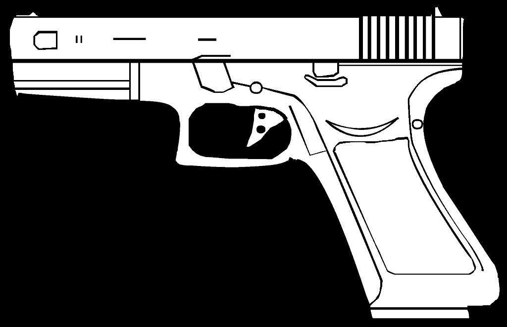 Drawn pistol glock 18 Svg File:Glock Wikimedia File:Glock Commons