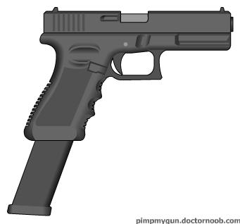 Drawn pistol glock 18 Glock18 glock18 050100 asher Glock