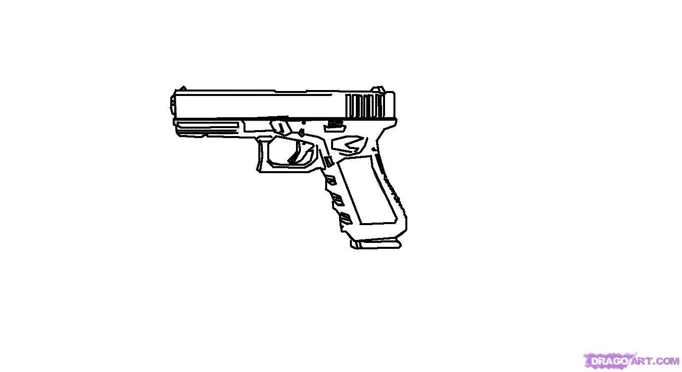 Drawn pistol glock 18 Gun 2 to to Step