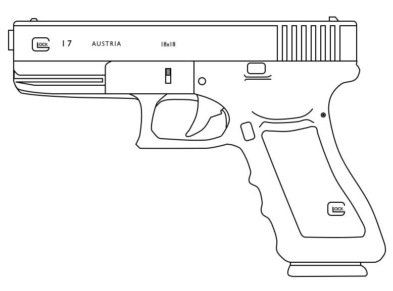 Drawn pistol glock 18 On 18 Glock Glock by