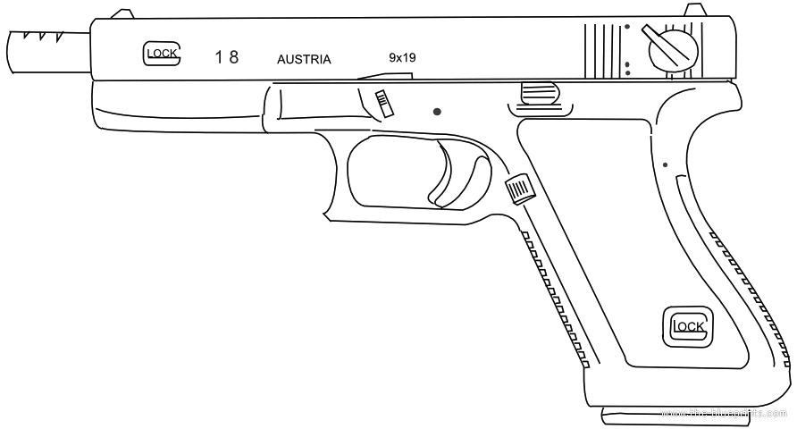 Drawn pistol glock 18 > > 18C Glock com