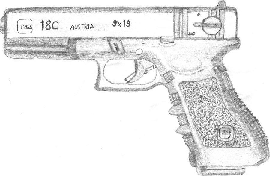 Drawn pistol glock 18 Glock18c glock18c 4 SparkWeaver 18c