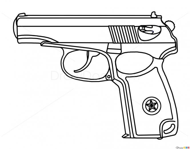 Drawn pistol graffiti How and Guns Pistol Guns