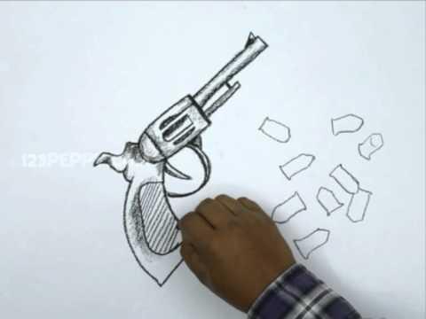 Drawn pistol graffiti How Pistol How Pistol a