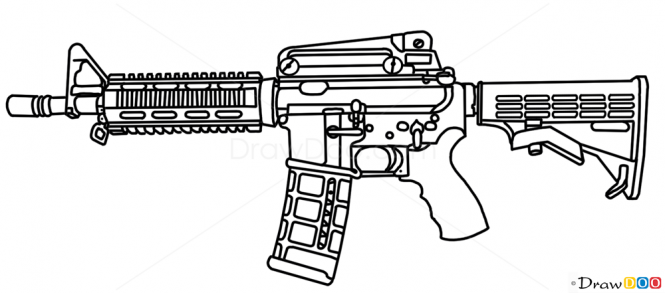 Drawn pistol graffiti  M4 Colt Pistols Guns