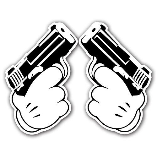 Drawn pistol graffiti Sticker on [Adelia Skateboard Adelia