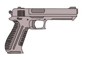 Drawn pistol graffiti How Drawing Step Lessons Gun