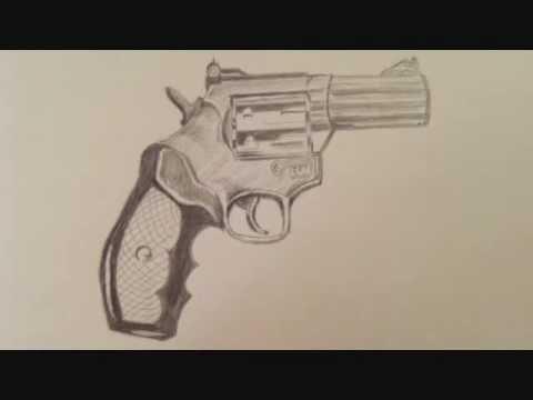 Drawn pistol graffiti How YouTube A (Pistol) Gun