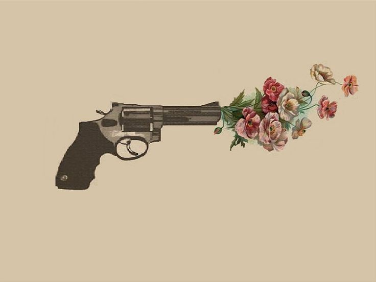 Drawn pistol gun shooting Search flowers gun shooting ideas