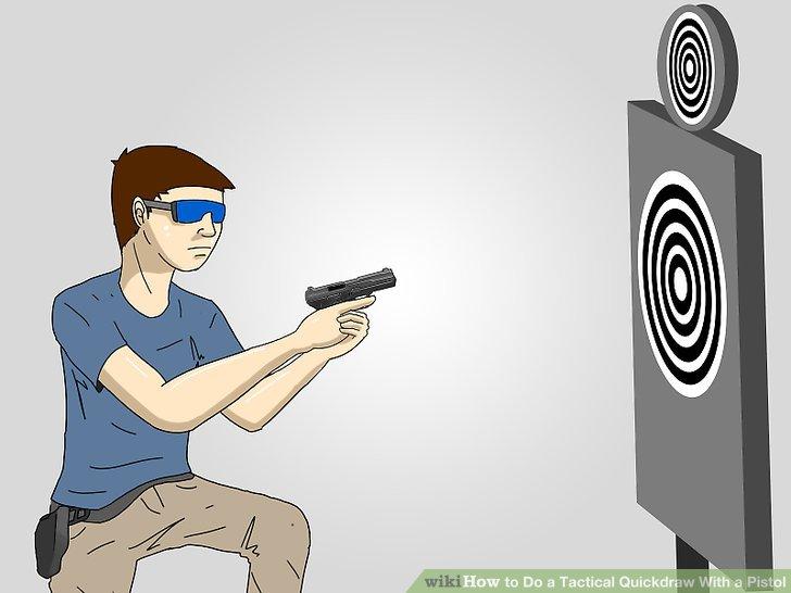 Drawn pistol gun shooting A Step Do 10 Image