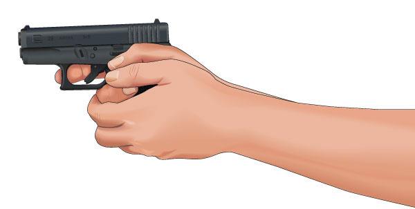 Drawn pistol gun shooting How finger improper shooting fix