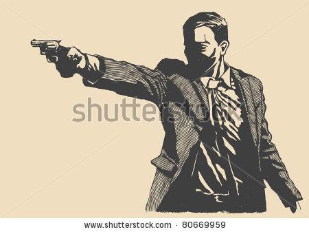 Drawn pistol gun shooting Old  pistol Pistols revolver