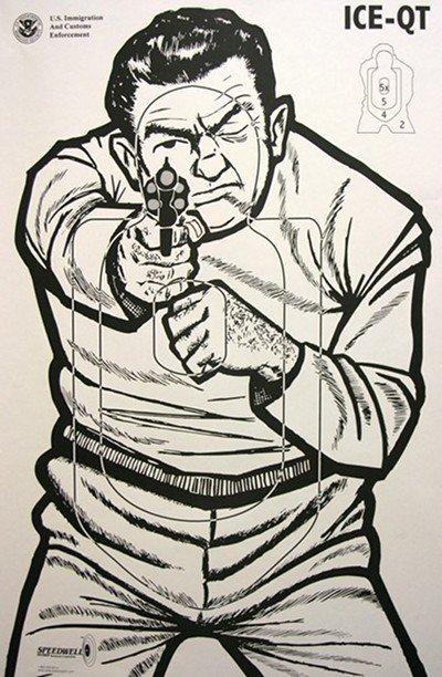 Drawn pistol gun shooting Correctly Fire range vintage pistol