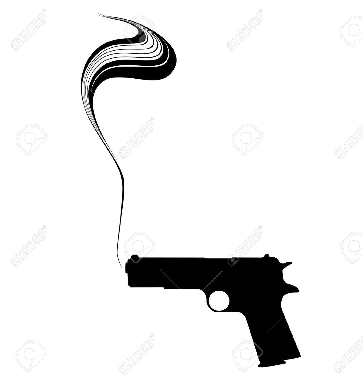 Smoking clipart silhouette Gun — (1548) Clipart Gun