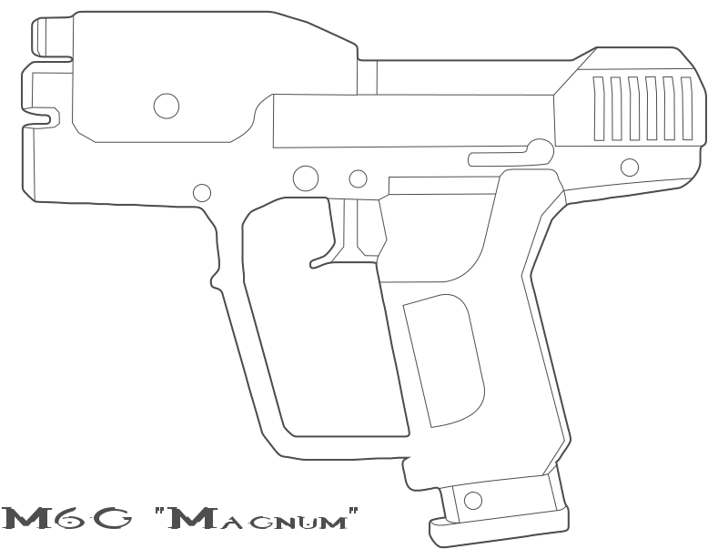 Drawn pistol halo Magnum Reach Drawing on Halo