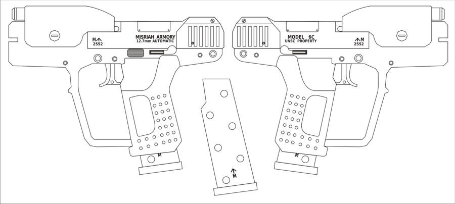 Drawn pistol halo Hoping building Justinian week UNSC