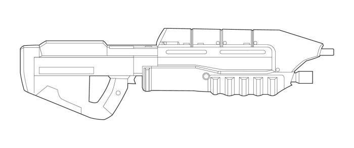 Drawn pistol halo 71 MA5B on by haloce