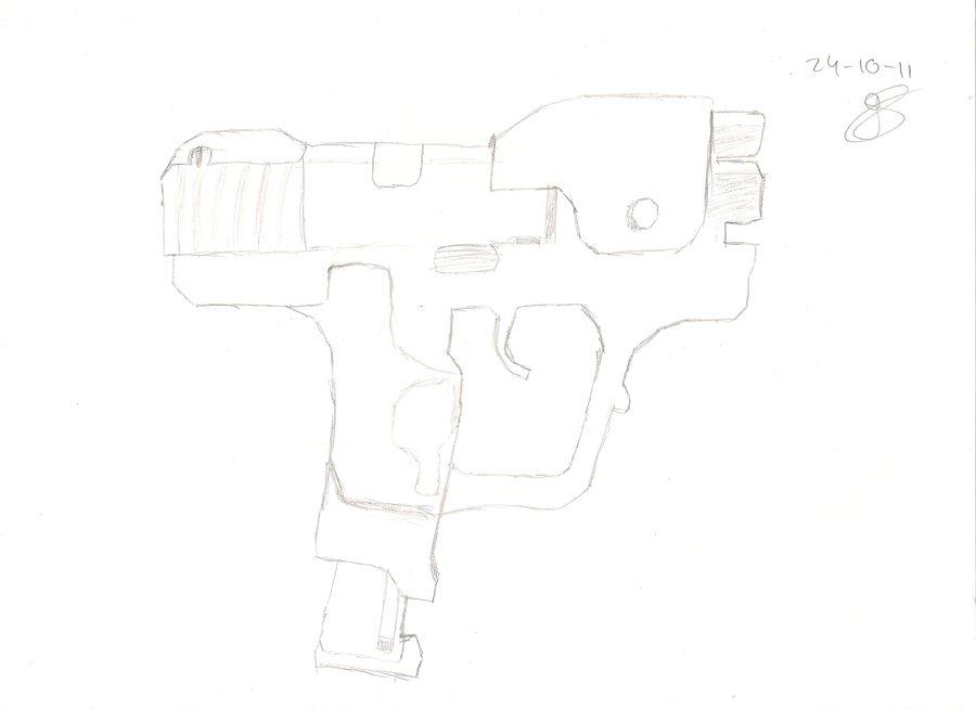 Drawn pistol halo Pistol Glenniiee Drawing Glenniiee Halo