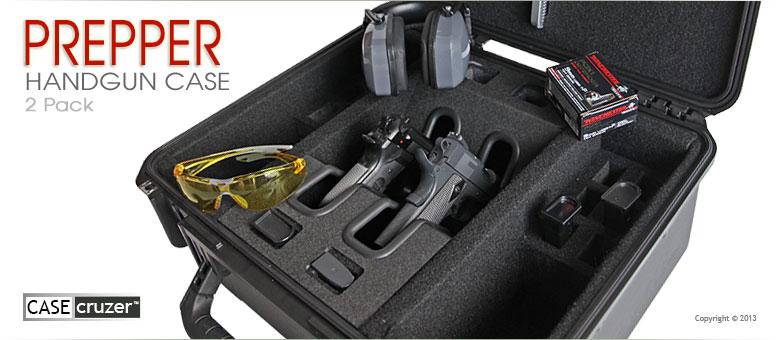 Drawn pistol hand gun 2 Handgun Case Pack 2
