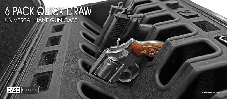 Drawn pistol hand gun Quick Handgun case pack 6