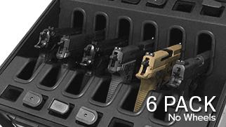 Drawn pistol hand gun Universal Pro Wheels 6 Case