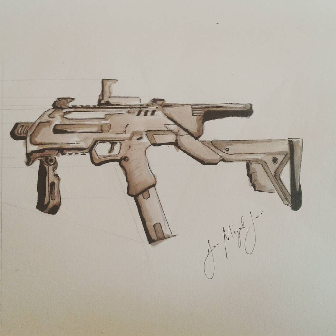 Drawn pistol hand gun #pistol #doodle #weapon #doodle #drawing