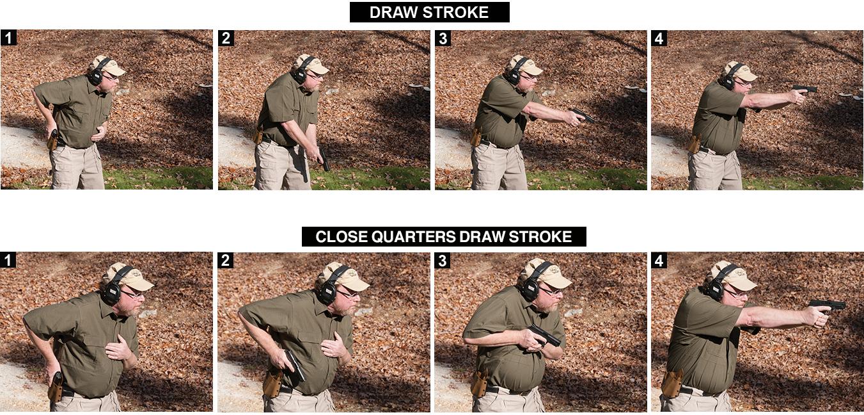 Drawn pistol hand gun The Stop between fundamental the