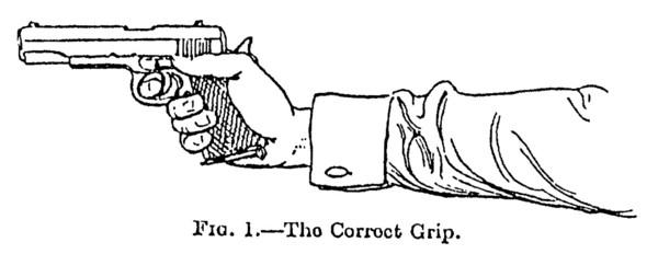 Drawn weapon pistol Twenty the (b) the square