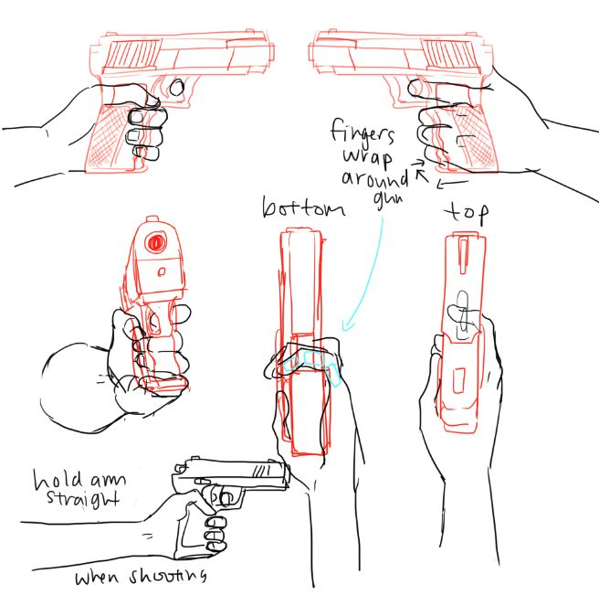 Drawn weapon hand gun Drawing Pinterest Weapon Drawing more