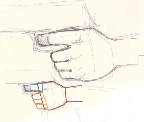 Drawn pistol hand holding Hand holding hand pistol gun