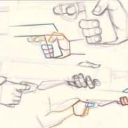 Drawn pistol hand holding Tutorials a Holding Gun How