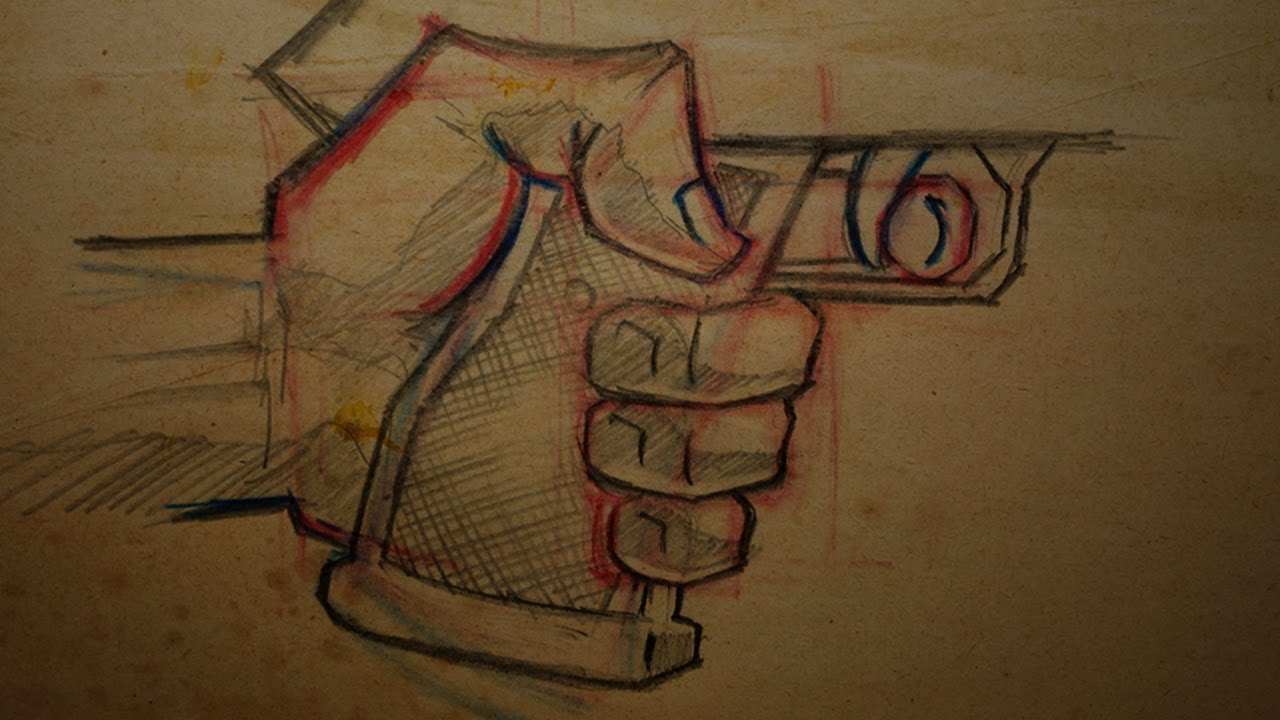 Drawn pistol hand holding How Draw Holding YouTube To