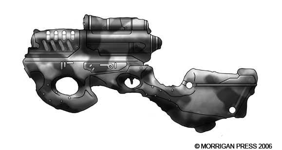Drawn pistol laser gun Terran on genocidalpenguin rifle TTA