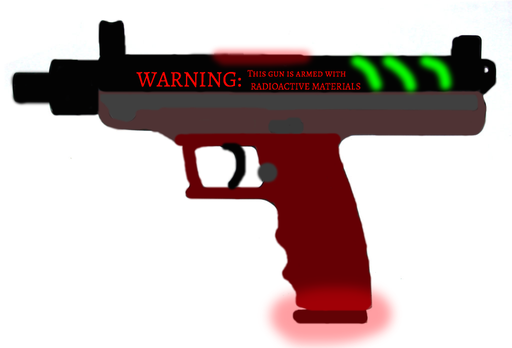 Drawn pistol laser gun (Laser Vim Vim Ironwing for
