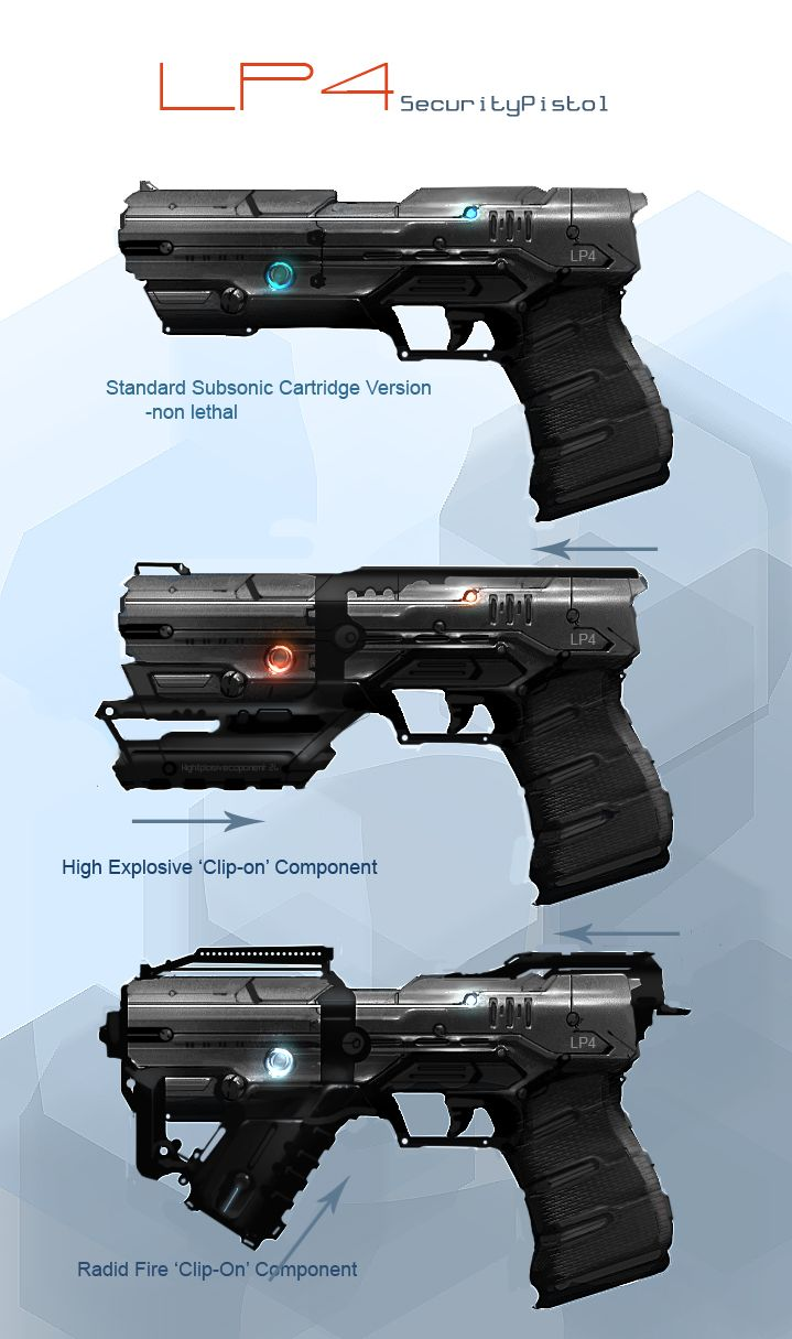Drawn pistol laser gun Pinterest SCI & FI FI