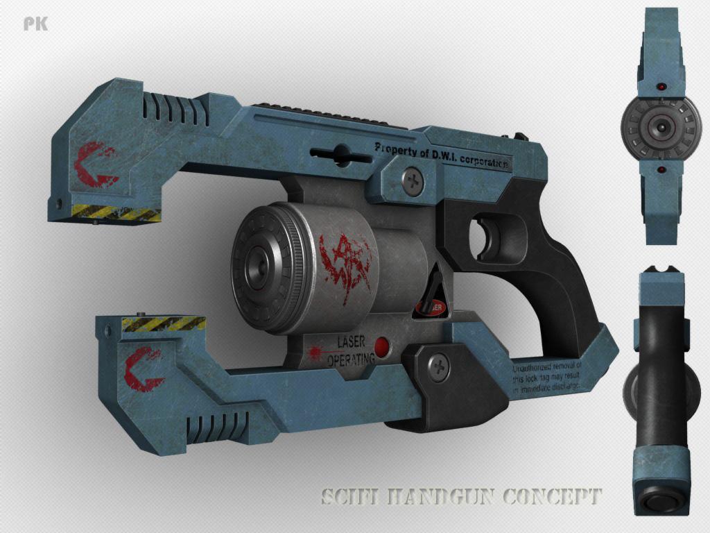 Drawn pistol laser gun Gun gun DeviantArt Laser by