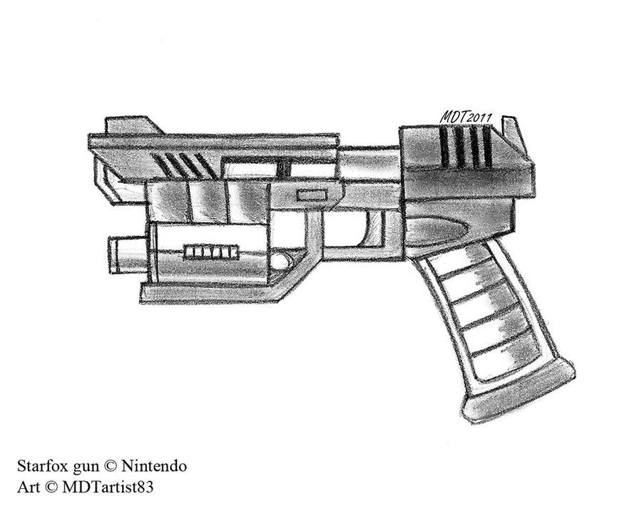 Drawn pistol laser gun Different also only model quite