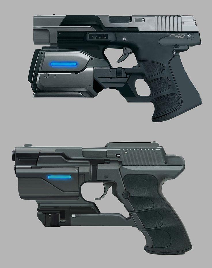 Drawn pistol laser gun Ideas Guns fi ArtStation Best