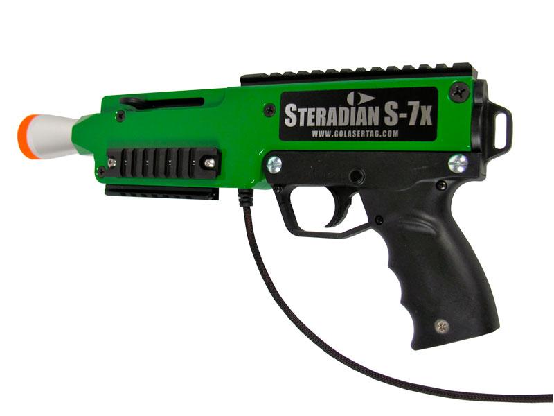 Drawn pistol laser gun Light Manufactured into Game Brings