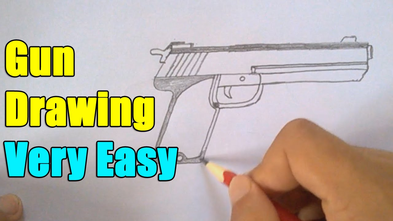 Drawn pistol little easy How Draw Gun Gun How