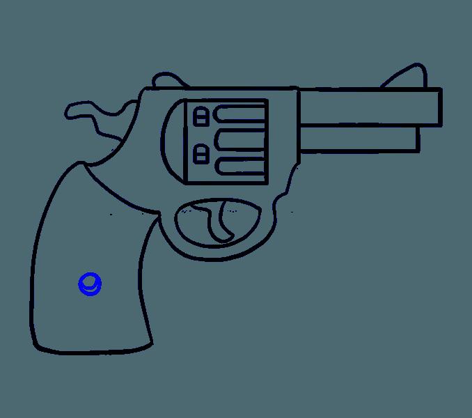 Drawn pistol little easy Revolver 17 cartoon to a