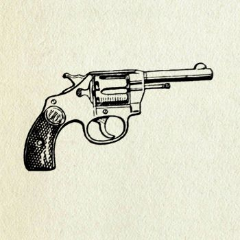 Drawn gun old style #1