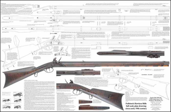 Drawn pistol long gun Hawken  com/imgPart/plan https://www trackofthewolf