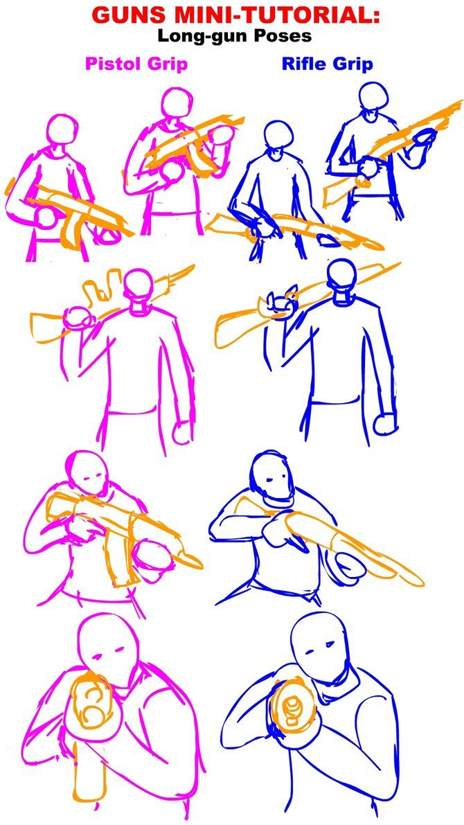 Drawn pistol long gun Gun Tactical about Guns Tutorial: