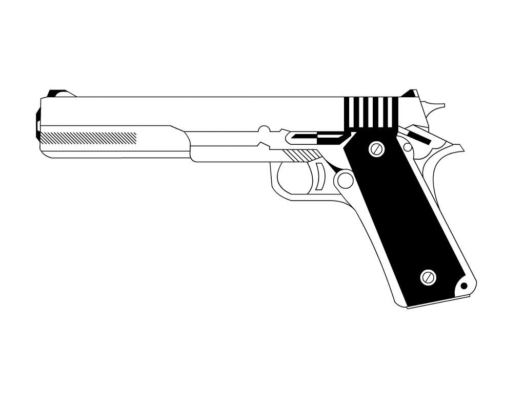 Drawn pistol long gun Photo  and Pistol Tattoo