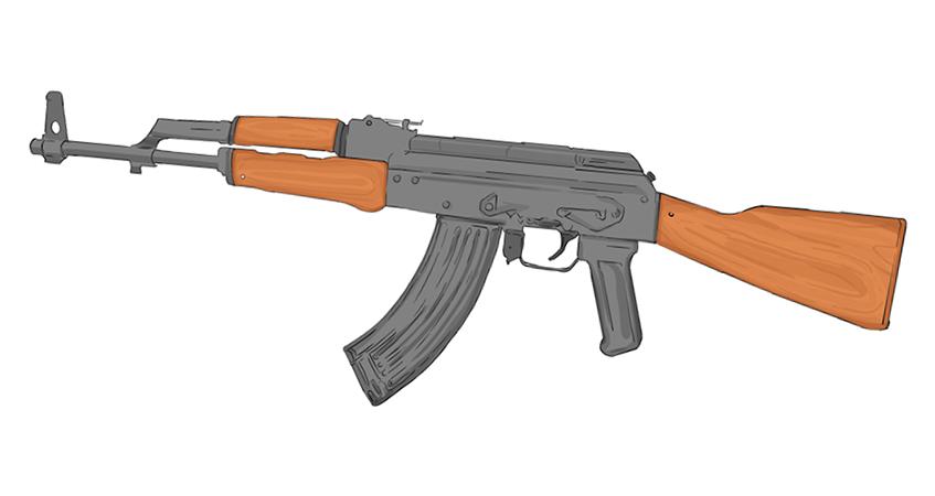 Drawn pistol long gun Stands Firearm Soviet invented the